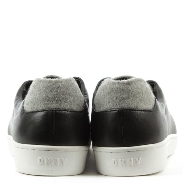 Bobbi Black Leather Contrast Pump
