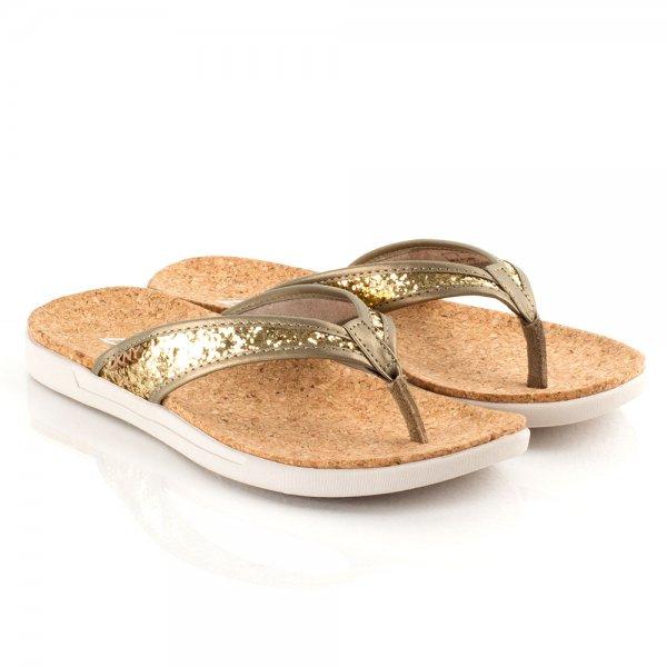 94cd5ec9272 DKNY Gold 23421418 Women s Flat Toe Post Sandal