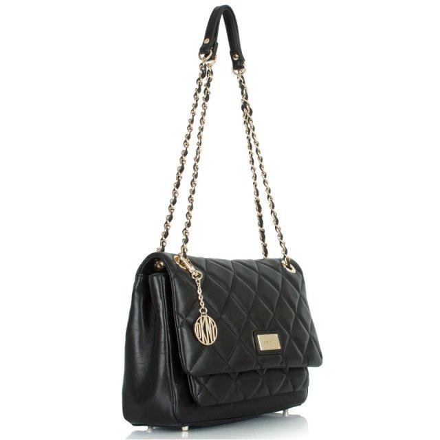 504ccbd4f2 Dkny Black Leather Harry Quilted Crossbody Bag. Gansevoort ...