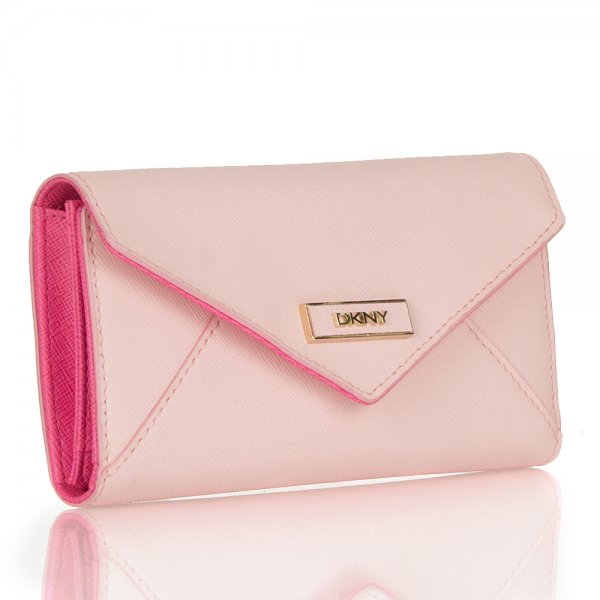DKNY Pink R4225113 Women's Saffiano Envelope Purse