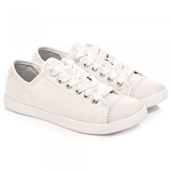 White 23120784 Women's Lace Up Trainer