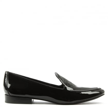 Tory Burch Dominique Black Patent Leather Loafer