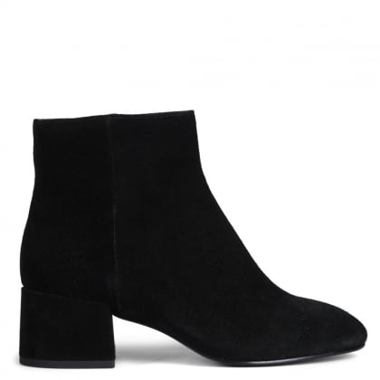 Dragon Bis Black Suede Ankle Boots