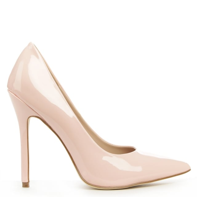 Duffield Pink Patent High Pointy Court Shoe