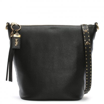 Duffle Pebbled Leather Shoulder Bag