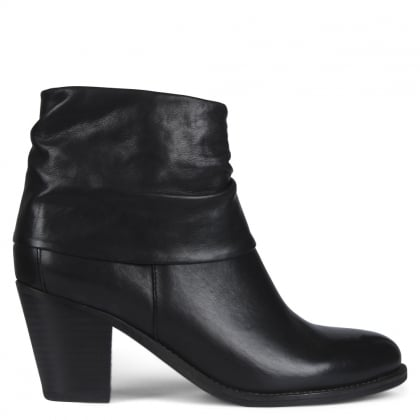 Dumaurier Black Leather Ankle Boots