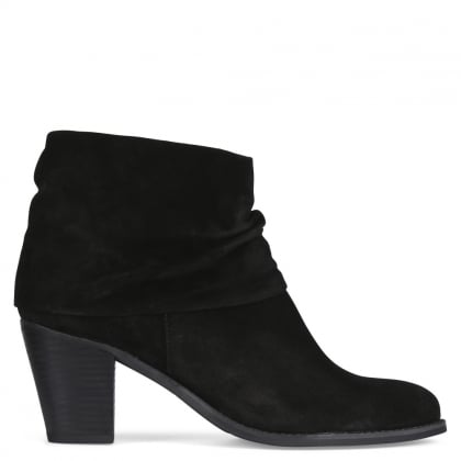 Dumaurier Black Suede Ankle Boots