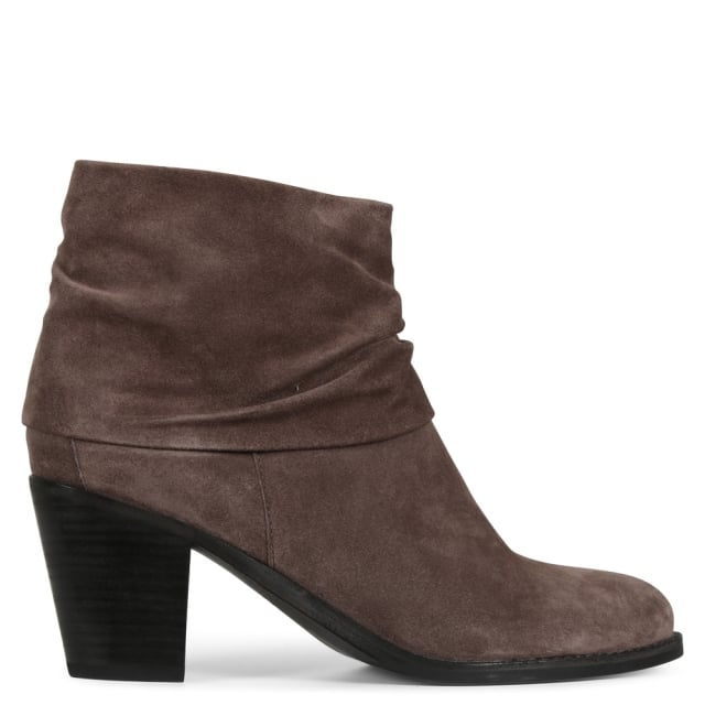 Dumaurier Grey Suede Ankle Boots