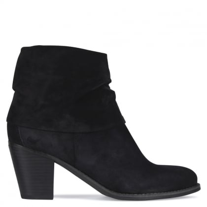 Dumaurier Navy Suede Ankle Boots