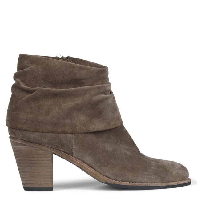 Dumaurier Taupe Suede Ankle Boots
