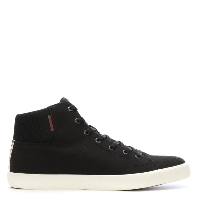 Jack & Jones Dunmore Black Canvas High Top Trainers