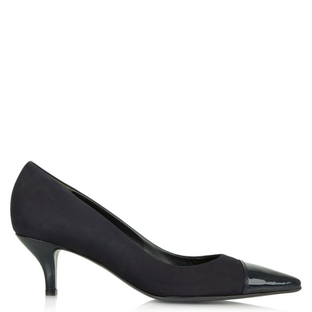 Dwelf Navy Patent Court Shoe