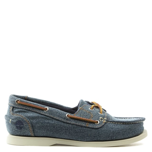 Earthkeepers Denim Canvas Classic Boat Shoe