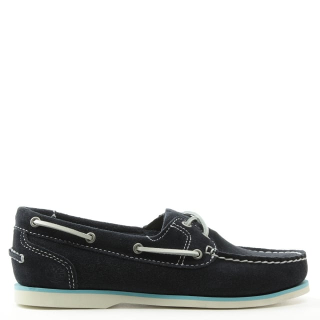 Earthkeepers Navy Suede Classic Unlined Boat Shoe