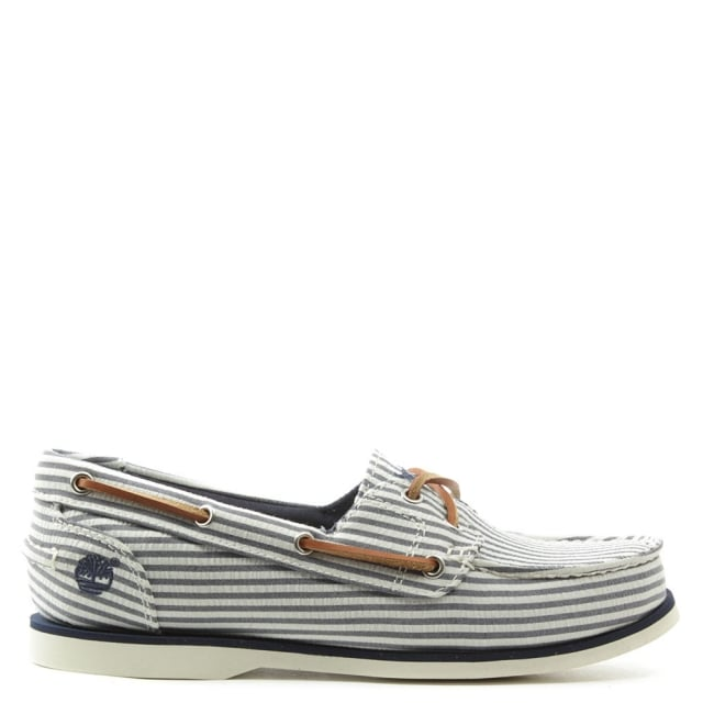 Earthkeepers Striped Canvas Classic Boat Shoe