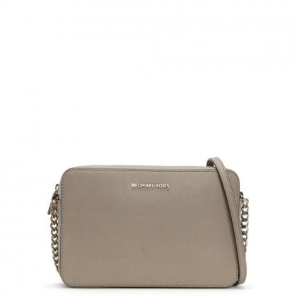 East West Large Truffle Saffiano Leather Cross-Body Bag