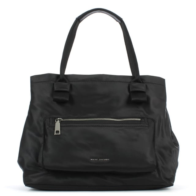 Easy Black Front Pocket Tote Bag