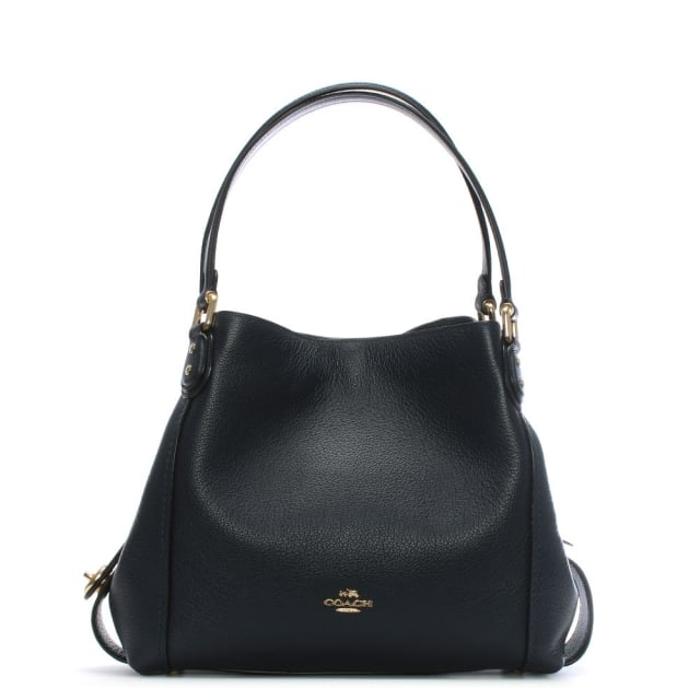 Coach Edie 31 Navy Pebbled Leather Shoulder Bag