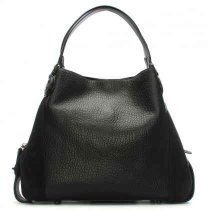 Edie 42 Black Leather Shoulder Bag
