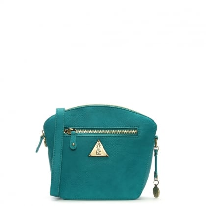 Elil Verdigris Faux Leather Cross-Body Bag