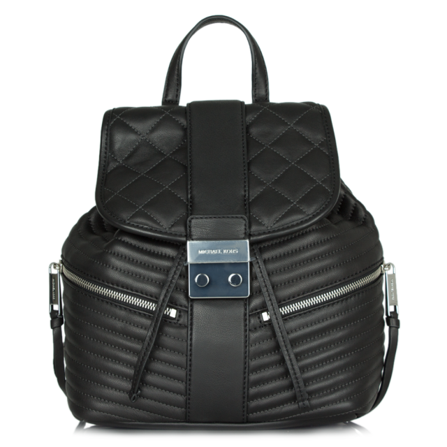 Elisa Quilted Black Leather Backpack