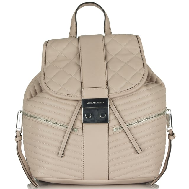 Elisa Quilted Pink Leather Backpack