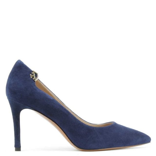 Elizabeth Navy Suede 85MM Pump
