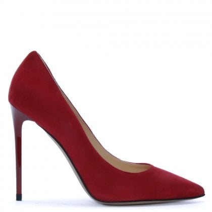 Ellesia Red Suede Spike Heel Court Shoes 19fd6e70f7