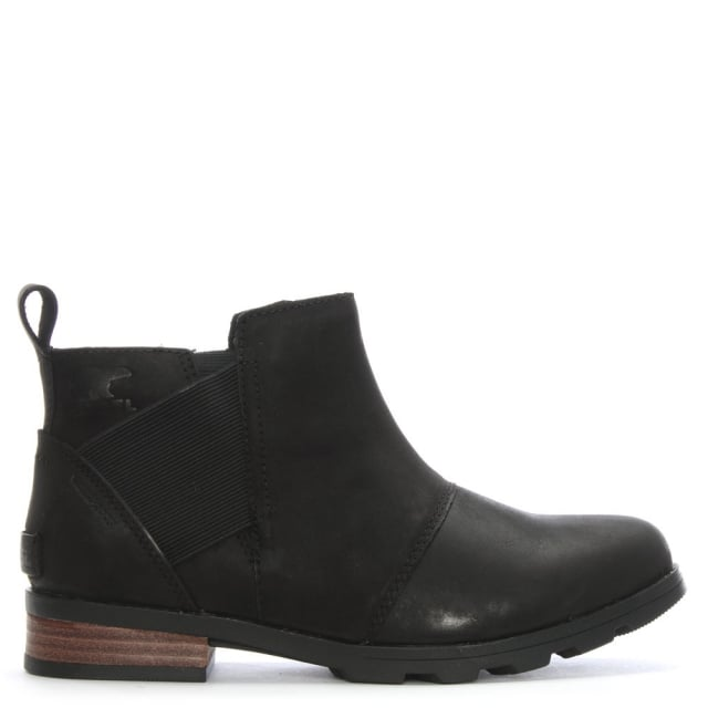Emelie Black Suede Chelsea Boots