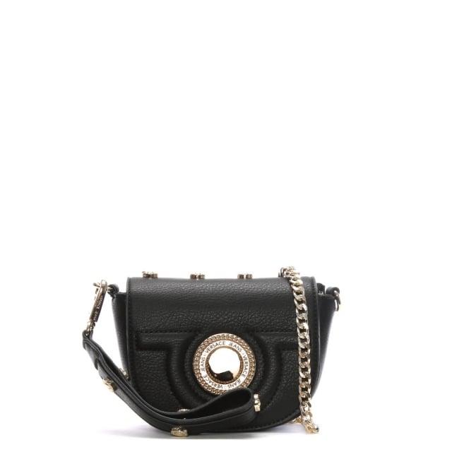 Versace Jeans Emily Black Studded Mini Cross-Body Bag