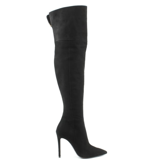 Emmie Black Suede Over The Knee Boot