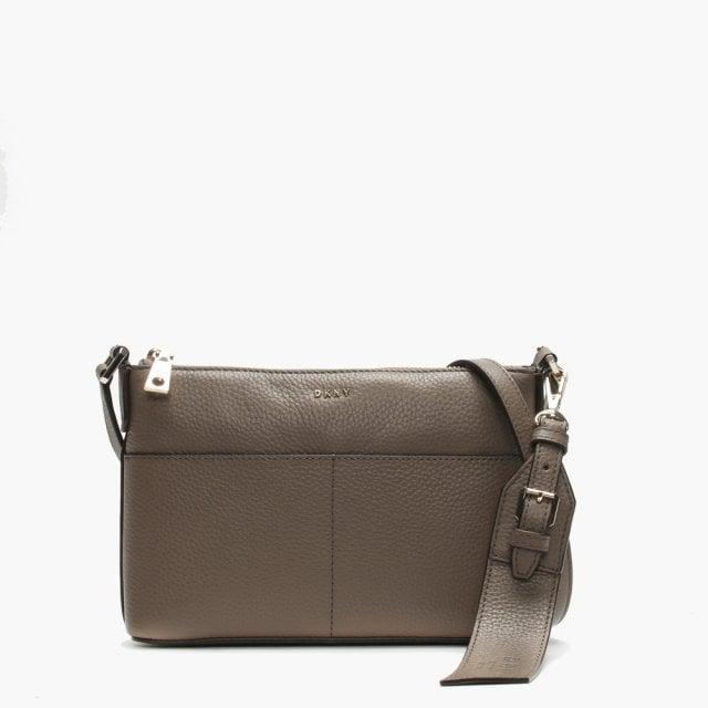 d0dfc543db60 DKNY Essex Top Zip Desert Leather Cross-Body Bag