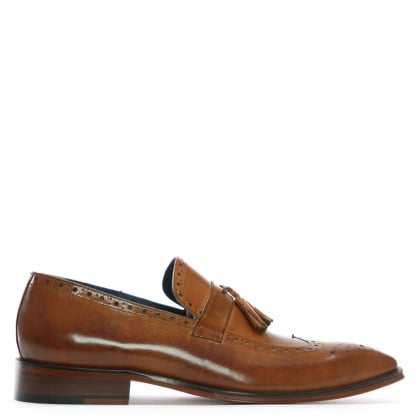 Evershot Tan Leather Brogue Loafers