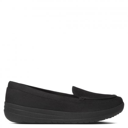 F-Sporty Black Leather Loafers