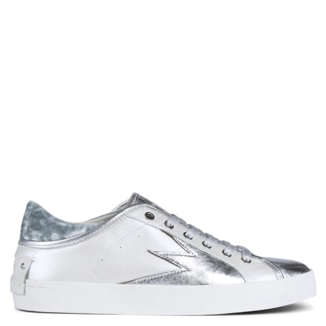 Faith Lo Exp Silver Leather Trainers