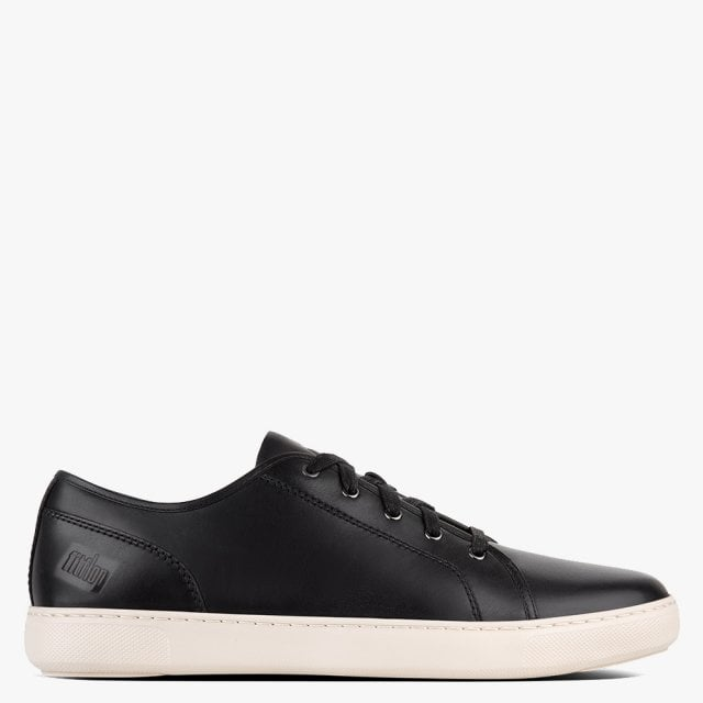 Christophe Black Leather Trainers