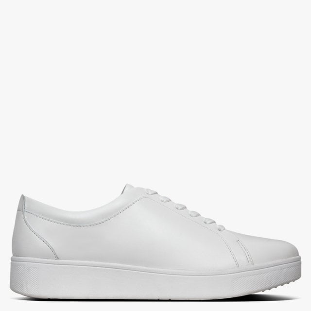 FitFlop Rally White Leather Trainers
