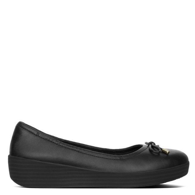 FitFlop Superbendy Black Leather
