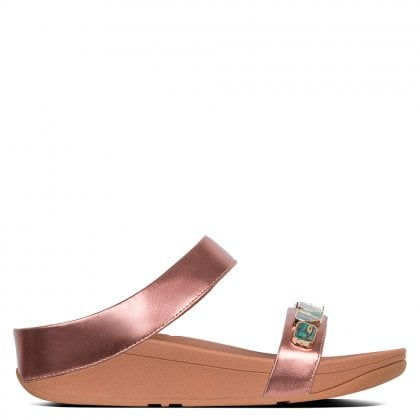 fbccc18aa Fino Shellstone Rose Gold Sliders. New In