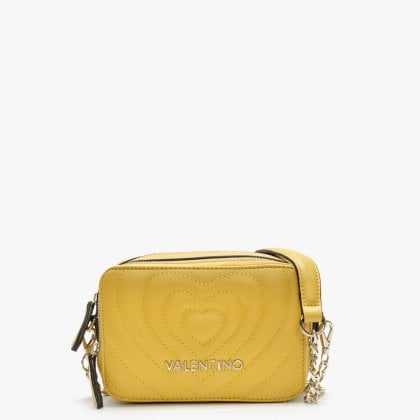 dd20ecde04 Fiona Yellow Quilted Heart Camera Bag. New In. Valentino By Mario ...