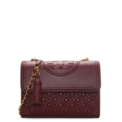 Fleming Convertible Imperial Garnet Leather Shoulder Bag