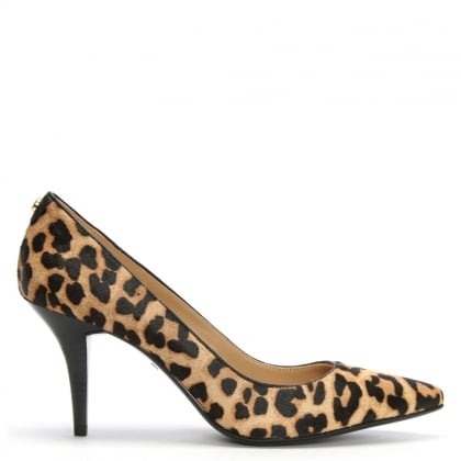 Flex Mid Leopard Calf Hair Pumps