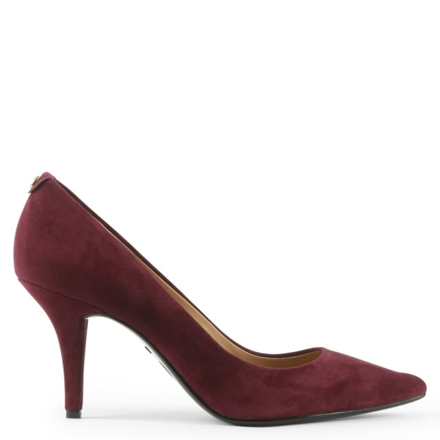 Flex Plum Suede Pointed Toe Court Shoe
