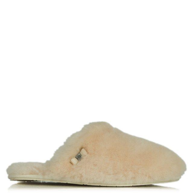 e6363aea8f1 Fluff Clog White Bow Detail Slipper