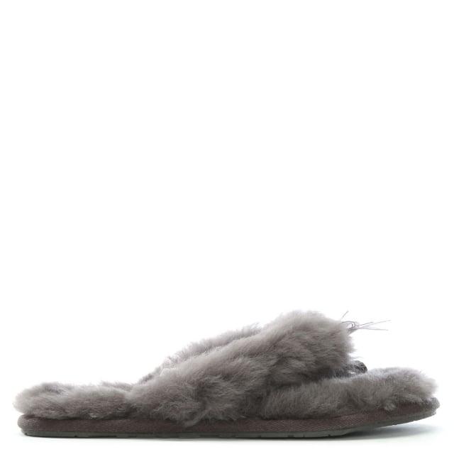 d5ec048a1d27 UGG Fluff II Grey Flip Flop Slippers