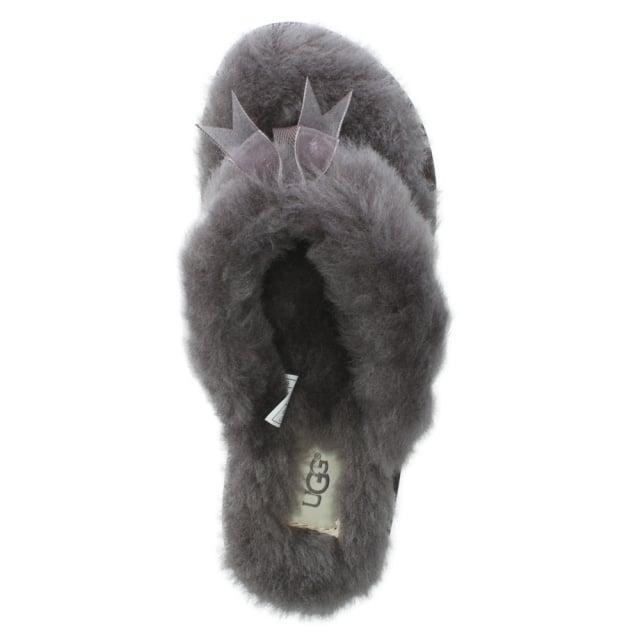 e78c1028b038 UGG Fluff II Grey Flip Flop Slippers
