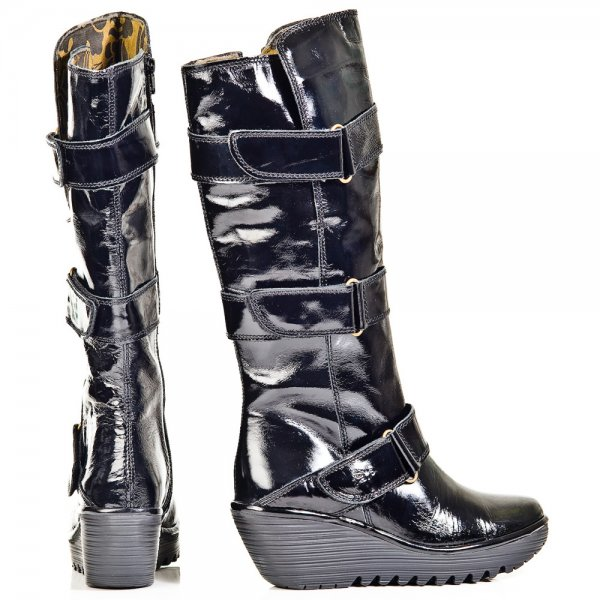 cb15844ca96d Fly London Black Yeven Womens Knee High Boot - Boots from Daniel ...