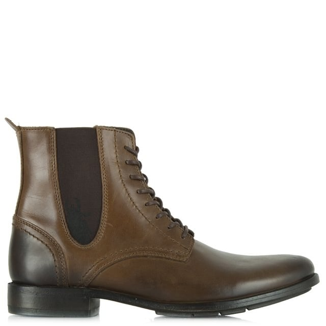 Fly London Poke Tan Leather Men's Lace Up Chelsea Boot
