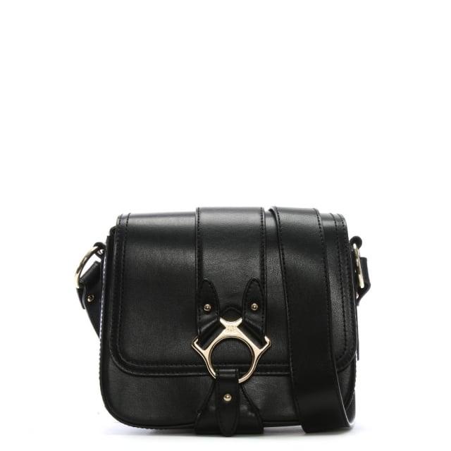 Vivienne Westwood Folly Black Leather Saddle Bag