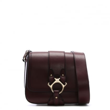 Folly Burgundy Leather Saddle Bag